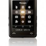 Un cellulare di lusso firmato Giorgio Armani