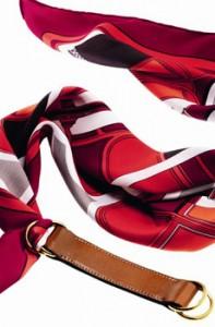 Cintura in vitello tadelakt e carré 70 Les coupés en soie « Vintage », Hermès