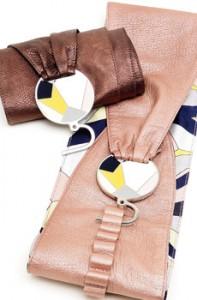 Cintura stampa Pucci con fibbia metallo, Pucci