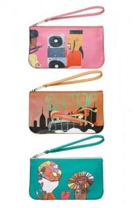 Alcune clutch disegnate da artisti disabili coordinati da Marc Jacobs